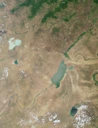 This region of central Asia is situated at the juncture of Mongolia, China and Russia. This image from NASA's Terra satellite is MISR Mystery Image Quiz #7.