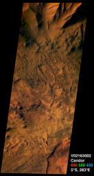 Candor Chasma on Mars, in Color