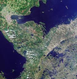 The border between Russia and Finland is shown in this MISR Mystery Quiz #12 captured by NASA's Terra spacecraft.