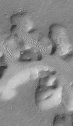 Nirgal Vallis and its Windblown Dunes
