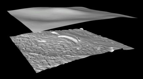 Derived Topographic Model from Mars Global Surveyor Instruments