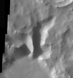Crater Dust Avalanches