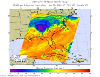 Hurricane Katrina as Observed by NASA's Spaceborne Atmospheric Infrared Sounder (AIRS)