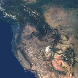 This natural-color image from NASA's Terra spacecraft captures the beauty of the western United States and Canada.