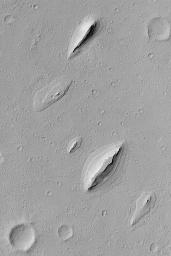 Layered Yardangs in Henry Crater