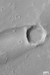 Crater with Wind Streak
