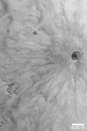 Fresh, Rayed Impact Crater