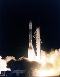 Delta Rocket Launch Carrying Mars Pathfinder