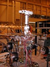 Engineers for NASA's Mars Exploration Rover Mission are completing assembly and testing for the twin robotic geologists at JPL.