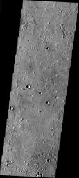 This image from NASA's 2001 Mars Odyssey released on Dec 24, 2003 shows a portion of the Isidis Basin at the center of an elliptical region on Mars.