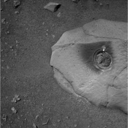 Spirit's First Grinding of a Rock on Mars