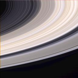 Nine days before it entered orbit, NASA's Cassini spacecraft captured this exquisite natural color view of Saturn's rings.