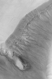 Gullied Martian Slope