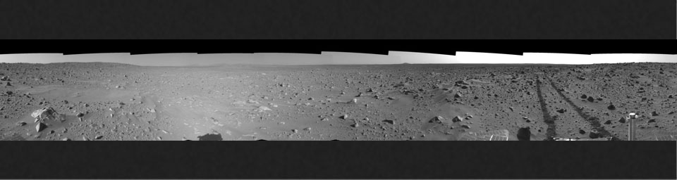 Spirit's View on Sol 93 (left eye)