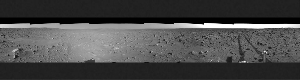 Spirit's View on Sol 93 (right eye)