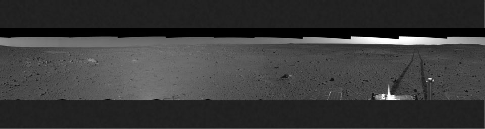 Spirit's View on Sol 101 (left eye)