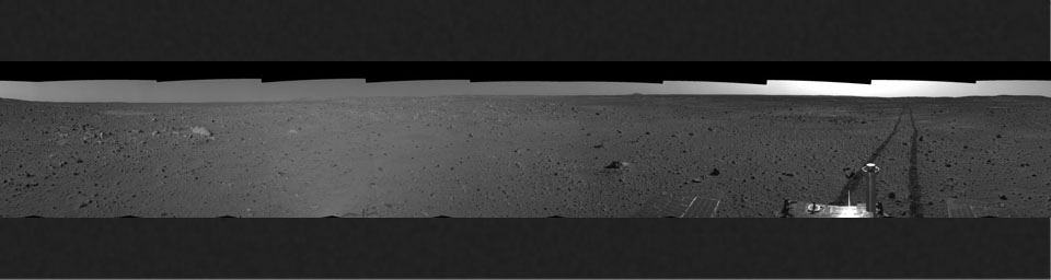 Spirit's View on Sol 101 (right eye)
