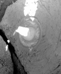 NASA's Mars Exploration Rover Opportunity broke its own record for the deepest hole ground into a rock on another planet with a 7.2-millimeter (about 0.28-inch) grind on the rock 'Pilbara,' on the rover's 86th sol on Mars.