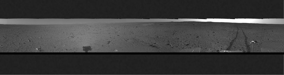 Spirit's View on Sol 110