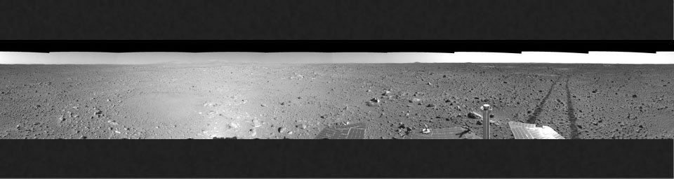 Spirit's View on Sol 123 (left eye)