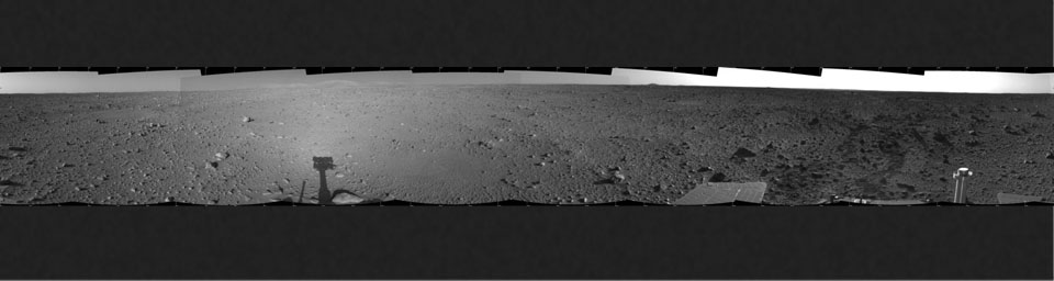 Spirit's View on Sol 124