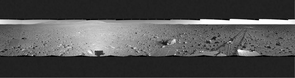 Spirit's View on Sol 148