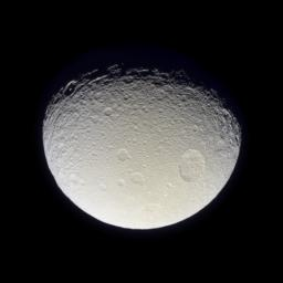 Having now passed closer to Tethys than the Voyager 2 spacecraft, NASA's Cassini spacecraft has returned the best-ever natural color view of this icy Saturnian moon.
