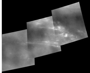 These images captured by NASA's Cassini spacecraft were taken during Cassini's second close approach to Titan in December 2004.