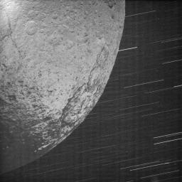 Iapetus by Saturn Shine