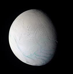 Enceladus In False Color
