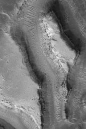 Features in Granicus Valles