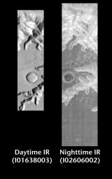 Ius Chasma by Day and Night