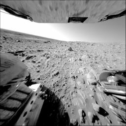Rock Outcrop Under Spirit's Wheels