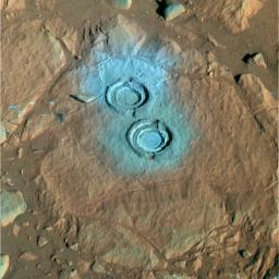Two Holes in 'Wooly Patch' (False Color)