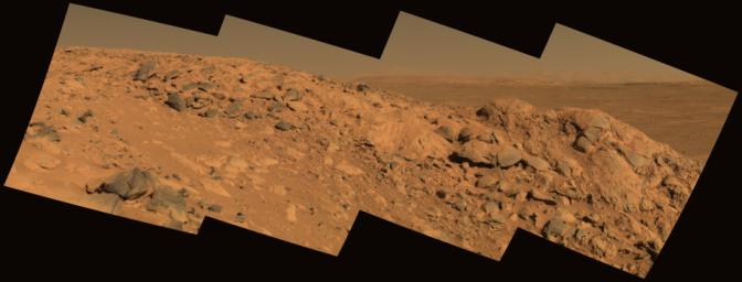 Perched Above Gusev Crater