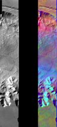 Melas Chasma in IR Color