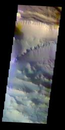 Ius Chasma In False Color