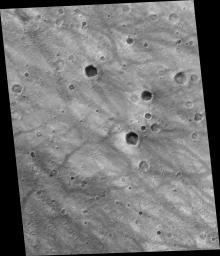 Rover Tracks Seen from Orbit
