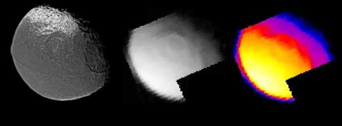 Iapetus Thermal Radiation Image