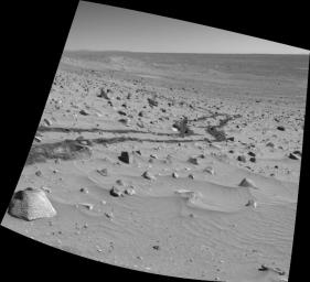 Spirit Looks Back on Sol 332
