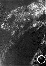 First 'Best-Guess' View of Huygens Landing Site