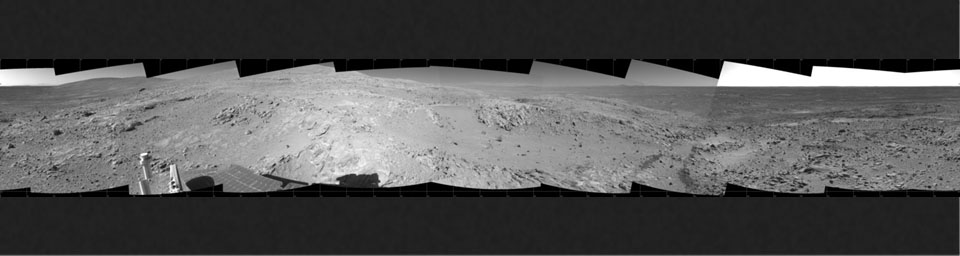 Spirit's Surroundings on 'West Spur,' Sol 305