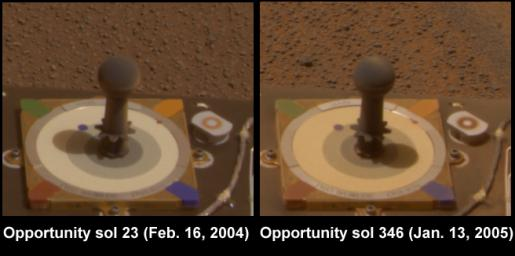 Dust on Mars: Before and After (Opportunity)