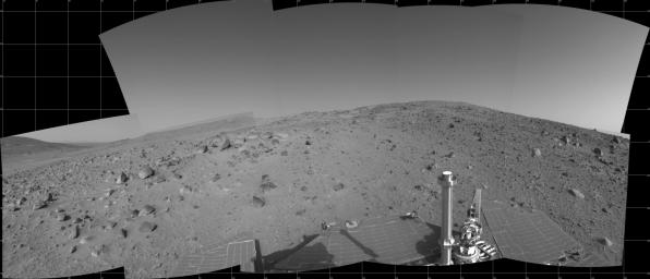 Spirit's View on Sol 390