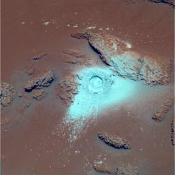 Sulfur-Rich Rocks and Dirt (False Color)