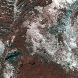 Churned-Up Rocky Debris and Dust (False Color)