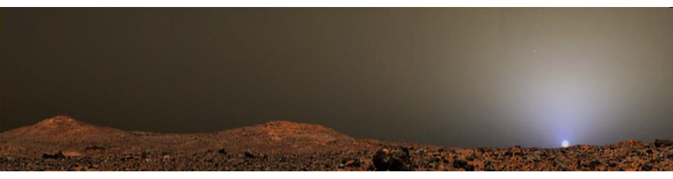 Sunset on Mars from Pathfinder Images