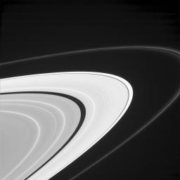 This sweeping view of Saturn's rings offers a look at how the planet's moons help shape and maintain this structure, making Saturn the jewel of the solar system. This image was taken in visible light with NASA's Cassini spacecraft's narrow-angle camera.