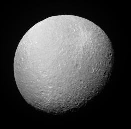 Above Rhea's South Pole