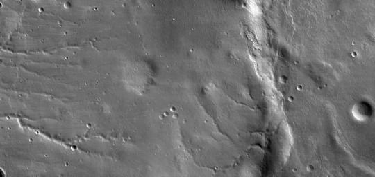 Detail of First Mars Image from Newly Arrived Camera